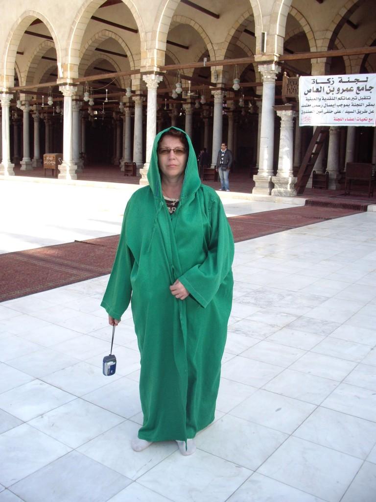 В мечети, Каир.
